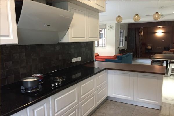 White classic modular kitchen chennai