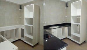 Granite slab in kitchen