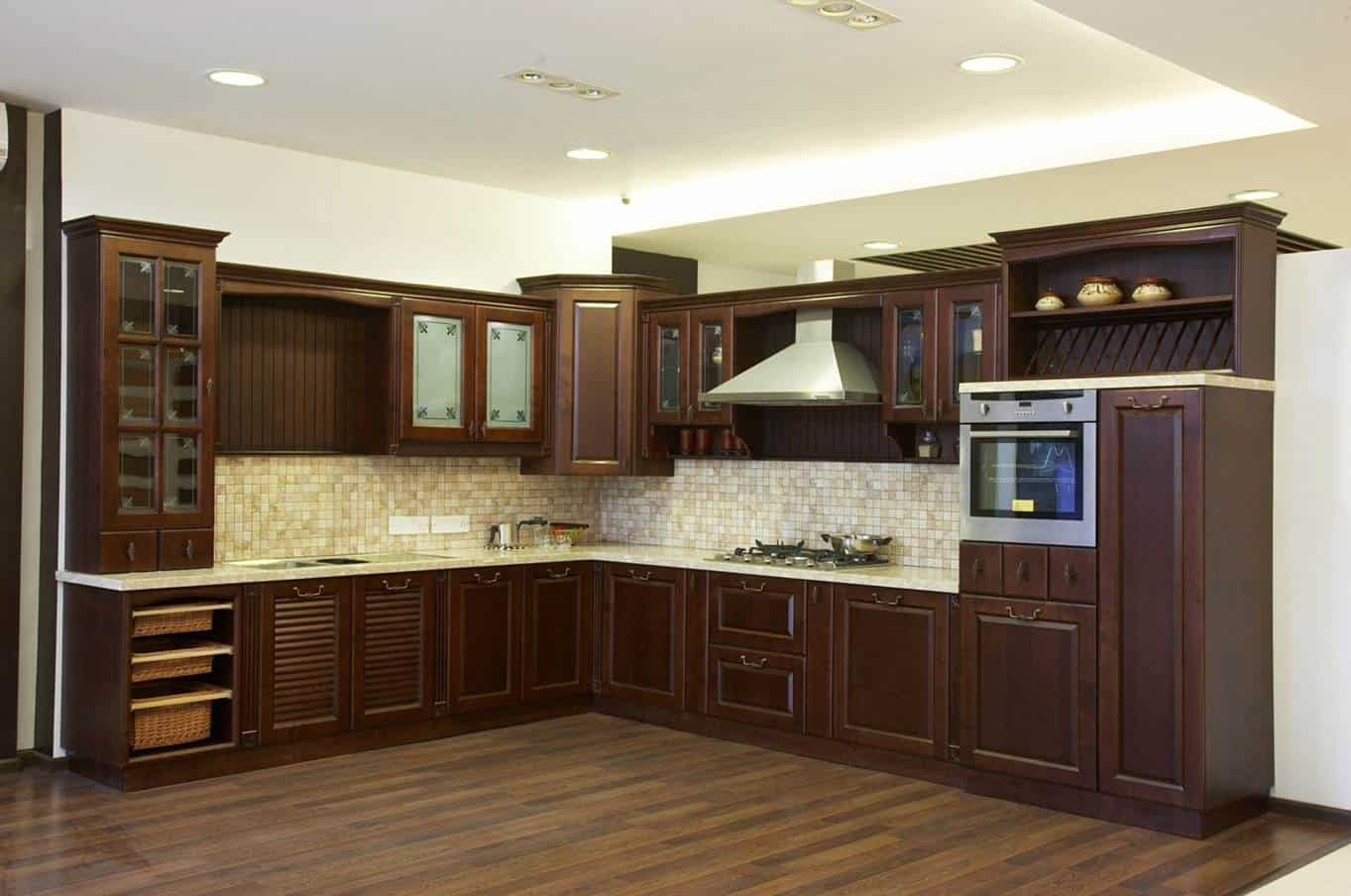 Cabinets with Wooden Finish
