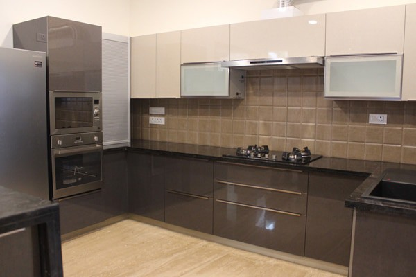 Glossy modular kitchen in Chennai