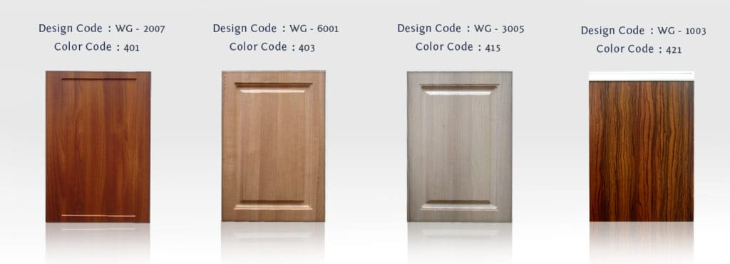 cabinets in membrane finish