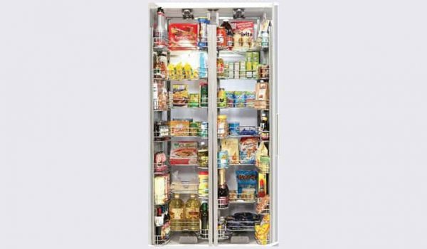 Kitchen accessory double pantry